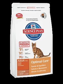 Hill's Science Plan Adult Optimal Care Lamb для взрослых кошек с ягненком - фото 4506