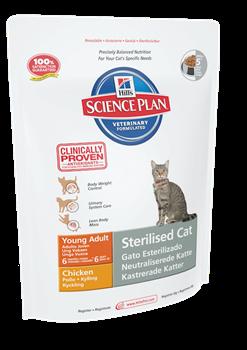 Hill's Science Plan Sterilised Cat Chicken для стерилизованных кошек до 6 лет Курица - фото 4515