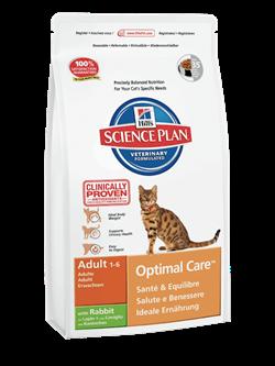 Hill's Science Plan Adult Optimal Care Rabbit для взрослых кошек c кроликом - фото 4519