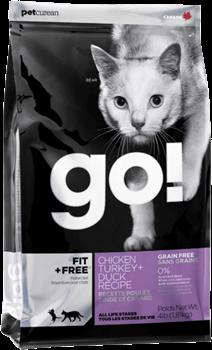 "Корм для котят и кошек GO! ""4 вида мяса: курица, индейка, утка и лосось"", Fit + Free"