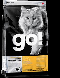 Корм GO! для кошек с чувствительным пищеварением со свежей уткой, Sensitivity + Shine Duck Recipe