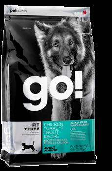 Корм GO Fit + Free для собак всех возрастов 4 вида мяса