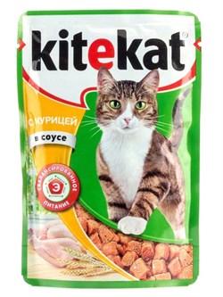 Китекат  пауч д/кошек Курица в соусе 85г - фото 4824