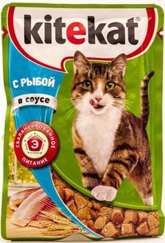 Китекат  пауч д/кошек Рыба в соусе 85г - фото 4826
