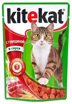 Китекат пауч д/кошек Говядина в желе 85г - фото 4834