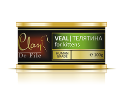 CLAN De File консервы для котят 100 г Телятина. - фото 4961