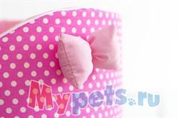 Лежак Премиум (хлопок) №2 розовый - фото 5084