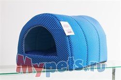 Домик Тоннель (хлопок) №1 синий - фото 5093