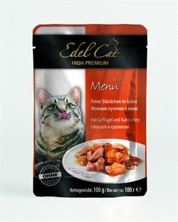 Паучи Edel Cat для кошек птица/ кролик в желе 100гр - фото 5168