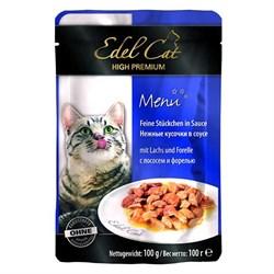 Паучи Edel Cat для кошек лосось/ форель в соусе 100гр - фото 5170