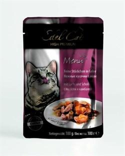 Паучи Edel Cat для кошек лосось/ камбала в желе 100гр - фото 5171