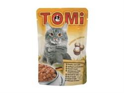 """""""TOMI"""" консервы для кошек-пауч 100г птица с кроликом - фото 5185"""