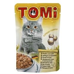 """""""TOMI"""" консервы для кошек-пауч 100г гусь с печенью - фото 5186"""