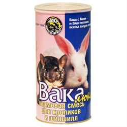 Корм Вака Люкс для кроликов и шиншилл 800 гр - фото 5275