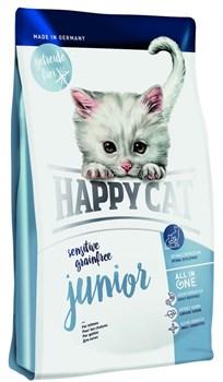 Happy Cat Sensitive Junior для котят с 5-ти недель гиппоалергенный 300 гр - фото 5375