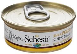 """""""Schesir"""" консервы для кошек Куриное феле 50гр - фото 5385"""