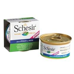 """""""Schesir"""" консервы для котят Курица с алоэ 85гр - фото 5389"""