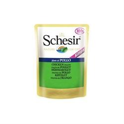 """Паучи """"Schesir"""" для котят Курица 100гр - фото 5391"""