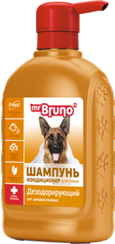"Mr Bruno шампунь №12 ""Дезодорирующий"" 350 мл - фото 5411"
