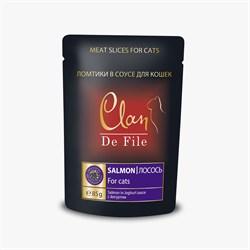 Пауч CLAN De File для кошек Лосось в йогуртовом соусе 85 г - фото 5574