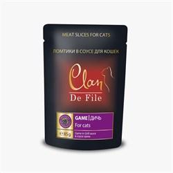 Пауч CLAN De File для кошек Дич в соусе гриль 85 г - фото 5579