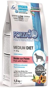 Forza корм для собак средних пород Свинина/картофель 1,5кг - фото 5689
