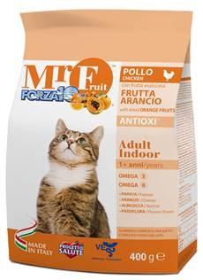 Forza Mr Fruit Полноценный сухой корм для взрослых домашних кошек 400 гр - фото 5700