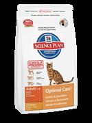 Hill's Science Plan Adult Optimal Care Chicken для взрослых кошек c курицей