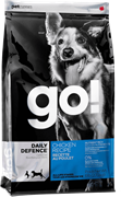 Корм GO Daily Defence Chicken Recipe для щенков и собак с цельной курицей, фруктами и овощами