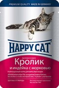 Паучи Happy Cat для кошек Кролик и Индейка
