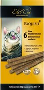 Лакомство Edel Cat для кошек деликатесные колбаски с курицей, индейкой и дрожжами