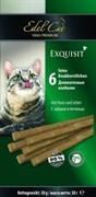 Лакомство Edel Cat для кошек деликатесные колбаски с зайцем и печенью