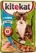 Китекат  пауч д/кошек Рыба в соусе 85г
