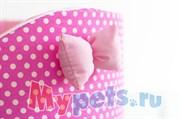 Лежак Премиум (хлопок) №2 розовый