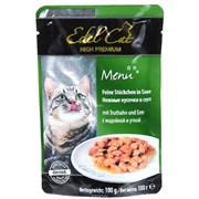Паучи Edel Cat для кошек печень/ кролик в соусе 100гр