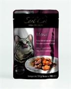 Паучи Edel Cat для кошек лосось/ камбала в желе 100гр