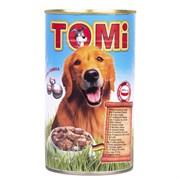 """""""TOMI"""" консервы для собак 1200г 5 видов мяса."""