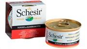 """Schesir"" консервы для кошек Тунец с креветками 85гр"