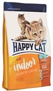 Happy Cat Adult Indoor Атлантический лосось для домашних кошек 1,4 кг