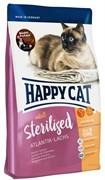 Happy Cat Adult Sterilised для взрослых стерилизованных кошек Атлантический лосось 1,4 кг