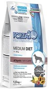 Forza Полноценный сухой корм для собак средних пород Ягненок 1,5кг