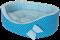 Лежак Премиум (хлопок) №1 синий - фото 5126