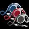 """FLEXI Рулетка """"VARIO"""" M Красный Ремень 5м 25кг - фото 5653"""